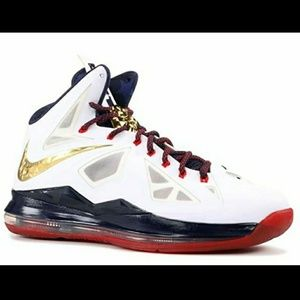 Men's NIKE LEBRON JAMES X 10 GOLD MEDAL SPORT